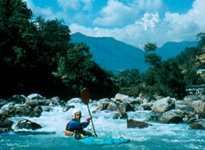 The Modi Cola in Nepal is an awesome river with continuos class IV rapids, stunning views, and a hot spring.