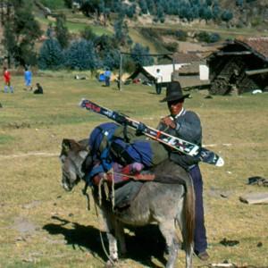 Peruvian ski lift for Nevado Ishinca