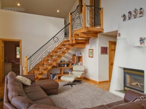 Very custom stairway in a passive solar Nederland CO Home