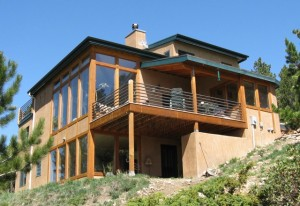 Passive solar home designed and built by John Mattson