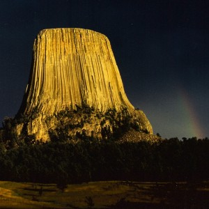 The stunning west face of the Devil's Tower,