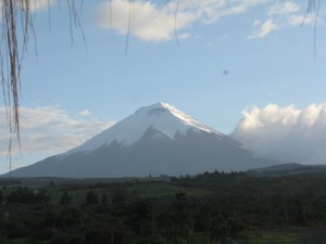 A rare clear view of Volcan Cotopaxi