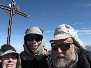 Team Ned on the summit of Volcan Misty 19,101ft. This was our practice climb to get used to the altitude.